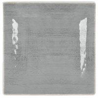 Carlisle 6402218 Grove 10 1/2 inch Smoke Square Melamine Plate - 12/Case