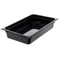 Carlisle 10201B03 StorPlus Full Size Black Food Pan - 4 inch Deep