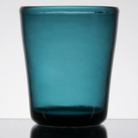 Carlisle MIN544015 Mingle 14 oz. Teal Tritan Plastic Double Old Fashioned Glass - 12/Case