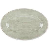 Carlisle 6402146 Grove 14 inch x 20 inch Jade Oval Melamine Tray - 4/Case