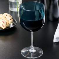 Carlisle EP7015 Epicure Cased 16.5 oz. Aqua Tritan Plastic Wine Goblet - 12/Case