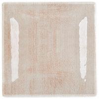 Carlisle 6402270 Grove 10 1/2 inch Adobe Square Melamine Plate - 12/Case