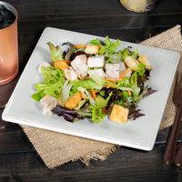 Carlisle 6402306 Grove 8 1/2 inch Buff Square Melamine Salad Plate - 12/Case