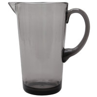 Carlisle MIN544318 Mingle 74 oz. Smoke Tritan Plastic Pitcher - 4/Case