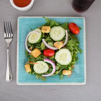 Carlisle 6402315 Grove 8 1/2 inch Aqua Square Melamine Salad Plate - 12/Case