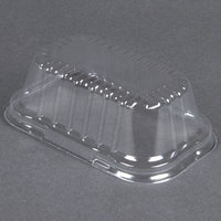 D&W Fine Pack 4299 Clear Dome Lid for 1 lb. Foil Bread Loaf Pan   - 50/Pack