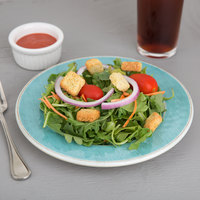 Carlisle 6400215 Grove 9 inch Aqua Round Melamine Salad Plate - 12/Case