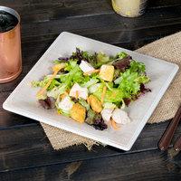 Carlisle 6402370 Grove 8 1/2 inch Adobe Square Melamine Salad Plate   - 12/Case