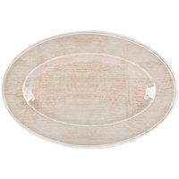 Carlisle 6402170 Grove 14 inch x 20 inch Adobe Oval Melamine Tray - 4 / Case