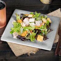 Carlisle 6402318 Grove 8 1/2 inch Smoke Square Melamine Salad Plate - 12/Case