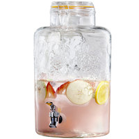 2.75 Gallon Style Setter Vineyard Fruit Glass Beverage Dispenser