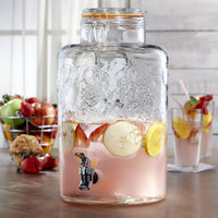 The Jay Companies 210261-GB 2.75 Gallon Style Setter Vineyard Fruit Glass Beverage Dispenser