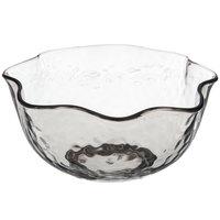 Carlisle TRA0518 Terra 28 oz. Smoke Ruffled Tritan Plastic Bowl - 24/Case