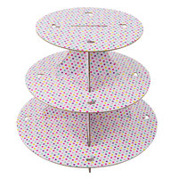 Wilton 1512-1675 3-Tier Polka Dot Disposable Cupcake Stand
