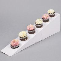 Wilton 1512-1676 White Disposable Cupcake Display Ramp - 2 / Pack