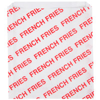 Carnival King 6 inch x 3/4 inch x 6 1/2 inch Extra Large Printed French Fry Bag - 2000 / Case