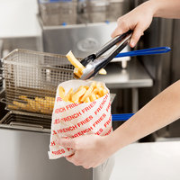 Carnival King 6 inch x 3/4 inch x 6 1/2 inch Extra Large Printed French Fry Bag - 2000/Case