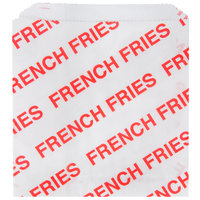 Carnival King 4 1/2 inch x 5 inch Medium Printed French Fry Bag - 500 / Pack