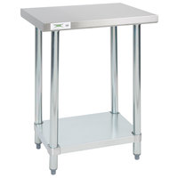 Regency 18 inch x 24 inch 18-Gauge 304 Stainless Steel Commercial Work Table with Galvanized Legs and Undershelf