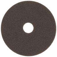 3M 7100 15 inch Brown Stripping Floor Pad - 5/Case