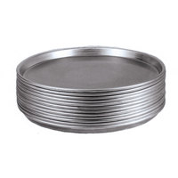 American Metalcraft TDEP10P 10 inch x 1 inch Deep Dish Tapered Perforated Pizza Pan - Tin Plated Steel