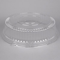 Visions 16 inch Clear PET Round Catering Tray High Dome Lid - 5/Pack