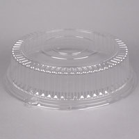 Visions 16 inch Clear PET Plastic Round Catering Tray High Dome Lid - 5/Pack