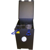 R & V Works FF2-R-SS 4 Gallon Stainless Steel Outdoor Cajun Deep Fryer - 90,000 BTU