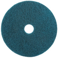3M 5300 14 inch Blue Cleaning Floor Pad   - 5/Case