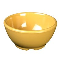 Thunder Group CR5804YW Yellow 10 oz. Melamine Soup Bowl, 4 5/8 inch - 12/Case