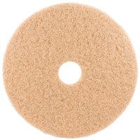 3M 3400 17 inch Tan Burnishing Floor Pad - 5/Case