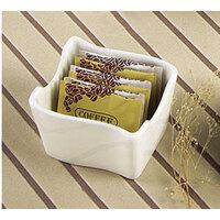 CAC SOH-HSP Soho American White (Ivory / Eggshell) Stoneware Sugar Packet Holder - 36 / Case