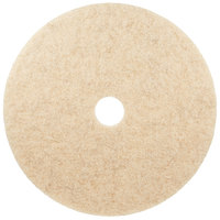 3M 3500 24 inch Natural Blend Tan Heavy Duty Burnishing Floor Pad - 5/Case
