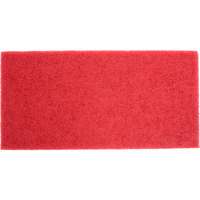 3M 5100 14 inch x 28 inch Red Buffing Pad - 10/Case