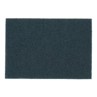 3M 5300 14 inch x 28 inch Blue Cleaner Pad - 10/Case