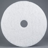 3M 4100 15 inch White Super Polishing Floor Pad   - 5/Case
