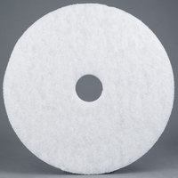 3M 4100 14 inch White Super Polishing Floor Pad   - 5/Case