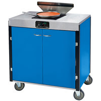 Lakeside 2065 Creation Express Mobile Cooking Cart with 1 Induction Burner, 1 Filtration Unit, and Royal Blue Laminate Finish - 22 inch x 34 inch x 40 1/2 inch
