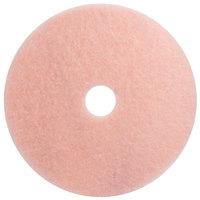 3M 3600 Eraser 19 inch Pink Burnishing Floor Pad - 5/Case