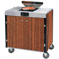 Lakeside 2065 Creation Express Mobile Cooking Cart with 1 Induction Burner, 1 Filtration Unit, and Victorian Cherry Laminate Finish - 22 inch x 34 inch x 40 1/2 inch