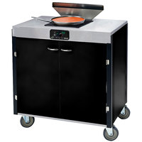 Lakeside 2065 Creation Express Mobile Cooking Cart with 1 Induction Burner, 1 Filtration Unit, and Black Laminate Finish - 22 inch x 34 inch x 40 1/2 inch