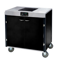 Lakeside 2060 Creation Express Mobile Cooking Cart with 1 Induction Burner, No Exhaust Filtration, and Black Laminate Finish - 22 inch x 34 inch x 35 1/2 inch