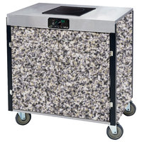 Lakeside 2060 Creation Express Mobile Cooking Cart with 1 Induction Burner, No Exhaust Filtration, and Gray Sand Laminate Finish - 22 inch x 34 inch x 35 1/2 inch