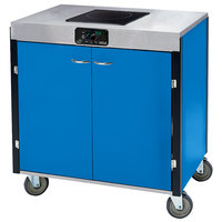 Lakeside 2060 Creation Express Mobile Cooking Cart with 1 Induction Burner, No Exhaust Filtration, and Royal Blue Laminate Finish - 22 inch x 34 inch x 35 1/2 inch