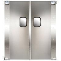 Curtron Service-Pro Series 20 Double Aluminum Swinging Traffic Door - 42 inch x 84 inch Door Opening