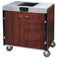 Lakeside 2060 Creation Express Mobile Cooking Cart with 1 Induction Burner, No Exhaust Filtration, and Red Maple Laminate Finish - 22 inch x 34 inch x 35 1/2 inch