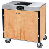 Lakeside 2060 Creation Express Mobile Cooking Cart with 1 Induction Burner, No Exhaust Filtration, and Hard Rock Maple Laminate Finish - 22 inch x 34 inch x 35 1/2 inch