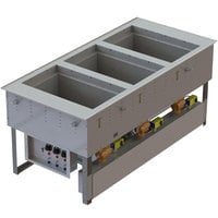 Vollrath 3667301D Modular Three Section Combination Hot / Cold Drop In Food Well - 120V