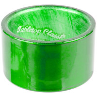Tabletop Classics by Walco AC-6512FG Forest Green 1 3/4 inch Round Polypropylene Napkin Ring