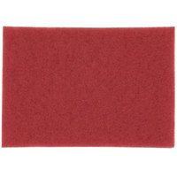 3M 5100 14 inch x 20 inch Red Buffing Pad - 10 / Case